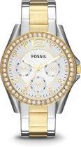 Fossil ES3204 - Horloge - 36 mm - Zilverkleurig/Goudkleurig