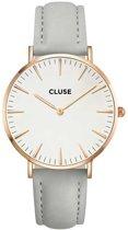 CLUSE CL18015 La Bohème Mesh - Horloge - Grijs - Ø 38 mm