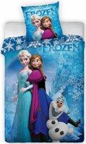 Disney Frozen Sisters - Dekbedovertrek - Eenpersoons - 135 x 200 cm - Blauw
