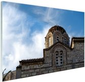 Griekse architectuur Glas 120x80 cm - Foto print op Glas (Plexiglas wanddecoratie)