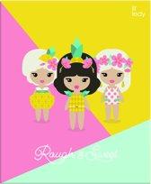 Lilleddy Ringband - A4 - 23 Ringen - Roze/Groen/Geel