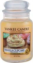 Yankee Candle Vanilla Cupcake geurkaars - 18 x 10 cm - Kruidig