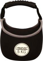 Avento Kettle Bell Neopreen - 5 Kg - Zwart/Wit