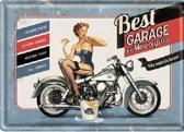 Best Garage for Motorcycles  Metalen Postcard 10 x 14 cm.