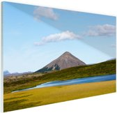 Vulkanisch landschap in IJsland Glas 30x20 cm - klein - Foto print op Glas (Plexiglas wanddecoratie)