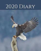 2020 Diary: Weekly Planner & Monthly Calendar - Desk Diary, Journal, Bald Eagle, Alaskan Eagle, Alaska, North American Wildlife, R