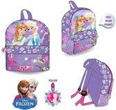 Disney - Frozen Elsa Anna en Olaf - Rugzak Meisje - Paars - 31x25x10cm