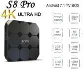 S8 Pro Android 7.1 4K TV Box | S905W TV Box Kodi 17.4 | 2GB RAM & 16 GB ROM | Nieuwste Model 4K WiFi TV Box Upgrade van de MxQ Pro