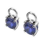 Zinzi Silver Jewels Creoolhangers  - Blauw