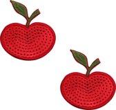 Pinch - Nipple Sticker Shining Apple - Tepel Plakker - Appel Rood - Tepelsticker
