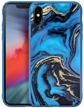 LAUT Mineral Glass iPhone XS Max Blue