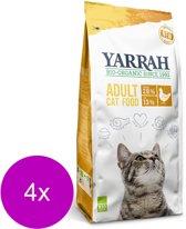 Yarrah Brokjes Bio Kat Kip - Kattenvoer - 4 x 800 g