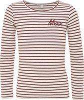 Mexx Meisjes T-shirt - Off White streep - Maat 146/152