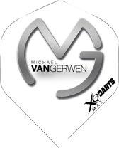 XQ-Darts Micheal van Gerwen flight - Grijs Wit