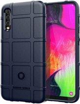 Samsung Galaxy A70 hoes - Heavy Armor TPU Bumper - Blauw