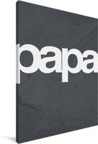 Cadeau voor de liefste vader met tekst en marmer - Papa Canvas 60x90 cm