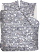 Ariadne at Home Knitted Hearts - Dekbedovertrek - Eenpersoons - 140x200/220 cm - Grijs