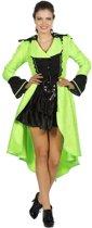 Luxe dames jas neon groen maat 38