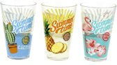 Cerve Fun in the Sun longdrink glazen 310 ml - Set-3