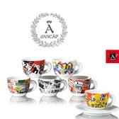 ANCAP Cappuccino kopjes Mercatini set van 6