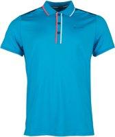Sjeng Sports Sportpolo - Maat L  - Mannen - blauw/oranje/wit