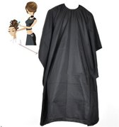 Black Salon Kapmantel - Waterproof Kappersmantel / Kappersschort Waterproof