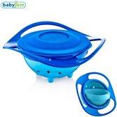Babyjem Spill-Proof Babyvoeding Kom - Eetbakje - Magische Kom / Bowl 360 Graden Rotatie - Blauw