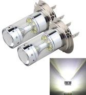 2 STKS H7 60W 1200 LM 6000K Autorichtlampen met 12 CREE XB-D LED-lampen, DC 12V (wit licht)