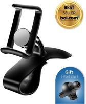 2IN1 Universele mobiele telefoon houder voor in de auto - Hoge kwaliteit - Zwart - Dashboard - HUD - Autohouder - Mobielhouder - Mobile phone holder car - Ventilatierooster - Universeel - Ventilatie - Ventilator - Smartphone - GSM