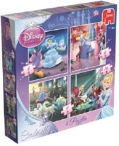 Jumbo Disney Cinderella 4 in 1 - Puzzel - 4, 6, 9 en 16 stukjes