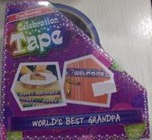 Funtape World's best grandpa - afzetlint opa - 25m