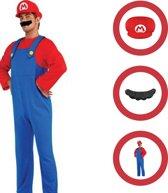 SUPER MARIO | Super Mario | Kostuum | Verkleedkleding | Carnaval | Volwassen | Maat: Large