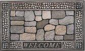 Schoonloopmat buiten / Eco Master 001 stones welcome 45 x 75