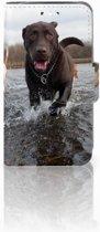 Huawei Y360 Uniek Boekhoesje Labrador Met Opbergvakjes