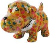 Pomme Pidou spaarpot hond Bruno - Groen met harten