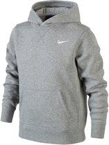Nike YA76 Brushed Fleece Hoody Junior Sporttrui casual - Maat XS  - Unisex - grijs Maat XS - 116/128
