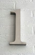 Huisnummer 1 van RVS 3D XL / Hoogte 25 cm / Huisnummer 1 groot.