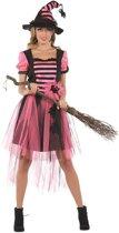 Rubie's Verkleedkostuum Heks Dames Maat 46 Zwart/roze