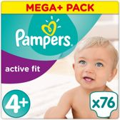 Pampers Active Fit - Luiers Maat 4+ 76 st