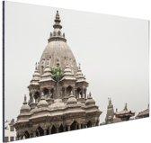 De tempel in Bhaktapur Aluminium 90x60 cm - Foto print op Aluminium (metaal wanddecoratie)