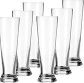 12x speciaal bierglazen/weisner glazen transparant 300 ml Mainz