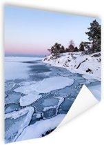 Bevroren zee Poster 75x150 cm - Foto print op Poster (wanddecoratie woonkamer / slaapkamer) / Zee en Strand