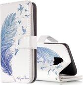 Let op type!! Voor Galaxy S9 Rose bloem patroon horizontale Flip lederen draagtas met houder & kaartsleuven & portemonnee