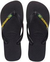 Havaianas Brasil Logo Slippers - Unisex Zwart - Maat 29/30