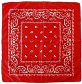 Voordelige rode paisley print bandana - Boeren zakdoek
