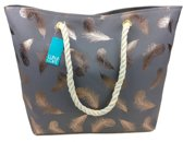 Luna Cove Golden Leaves Strandtas Shopper Beach Bag Trendy Tas