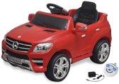 vidaXL Elektrische auto Mercedes Benz ML350 rood 6 V met afstandsbediening