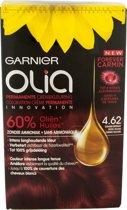 Garnier Olia 4.62 - Donker Granaat Rood - Permanente Crèmekleuring Zonder Ammoniak - Op Basis Van Olie