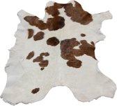 Mini koeienhuid kalfsvel bruin-wit gevlekt, een liefje.