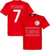 Tunesië Msakni 7 Team T-Shirt - Rood - XL